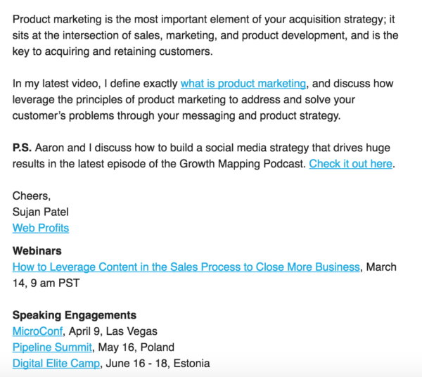 Sujan Patel Podcast Marketing