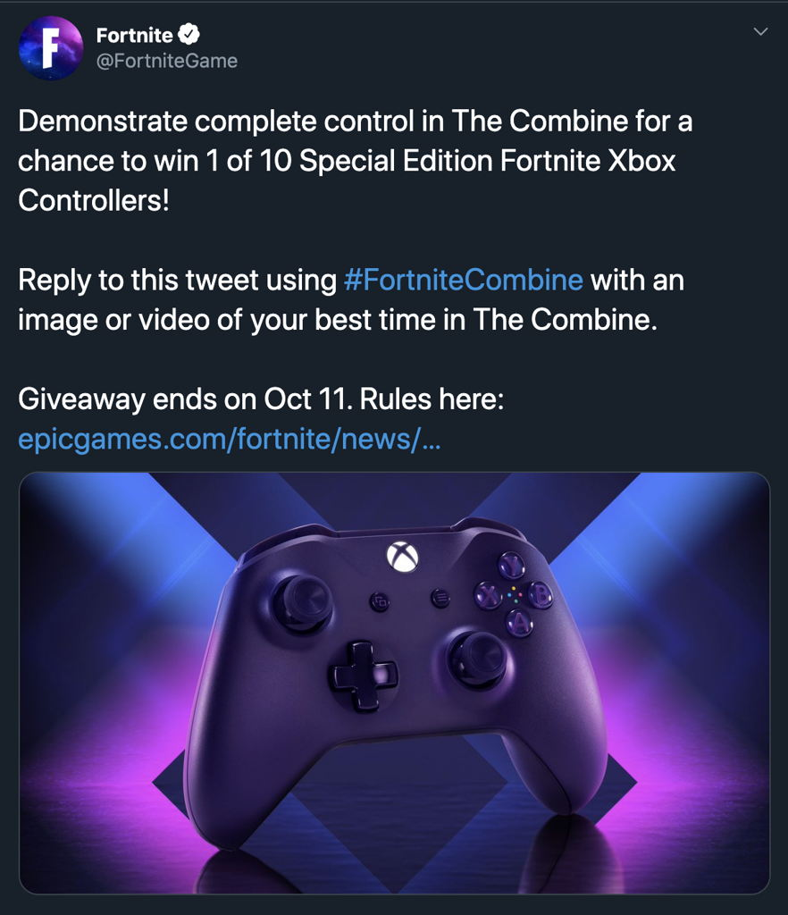 Fortnite Combine Giveaway Twitter