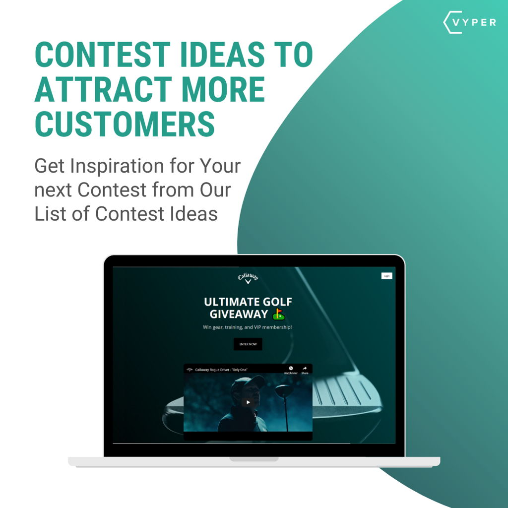 Contest Ideas to attract more customers VYPER