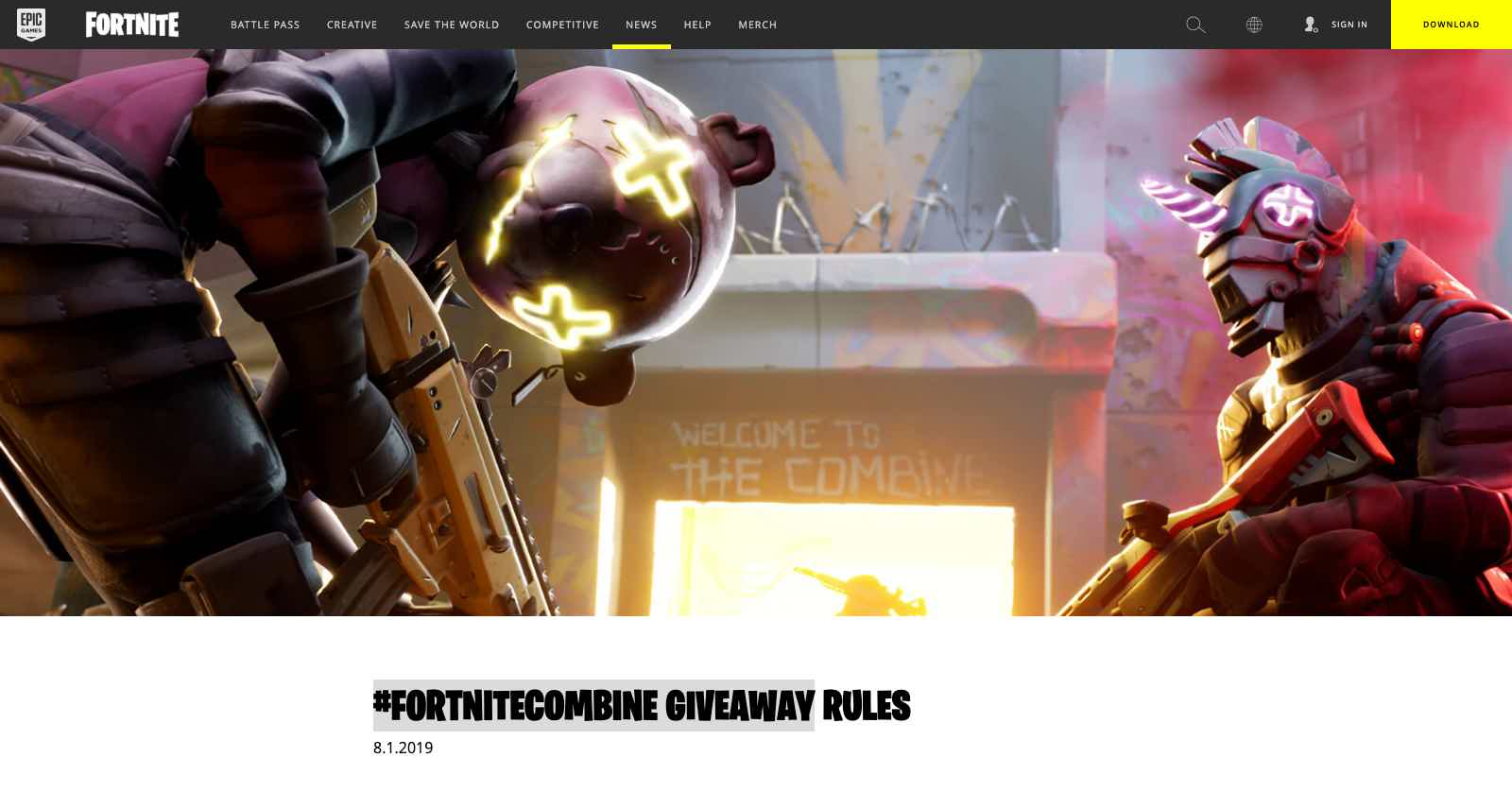 Fortnite Combine Giveaway