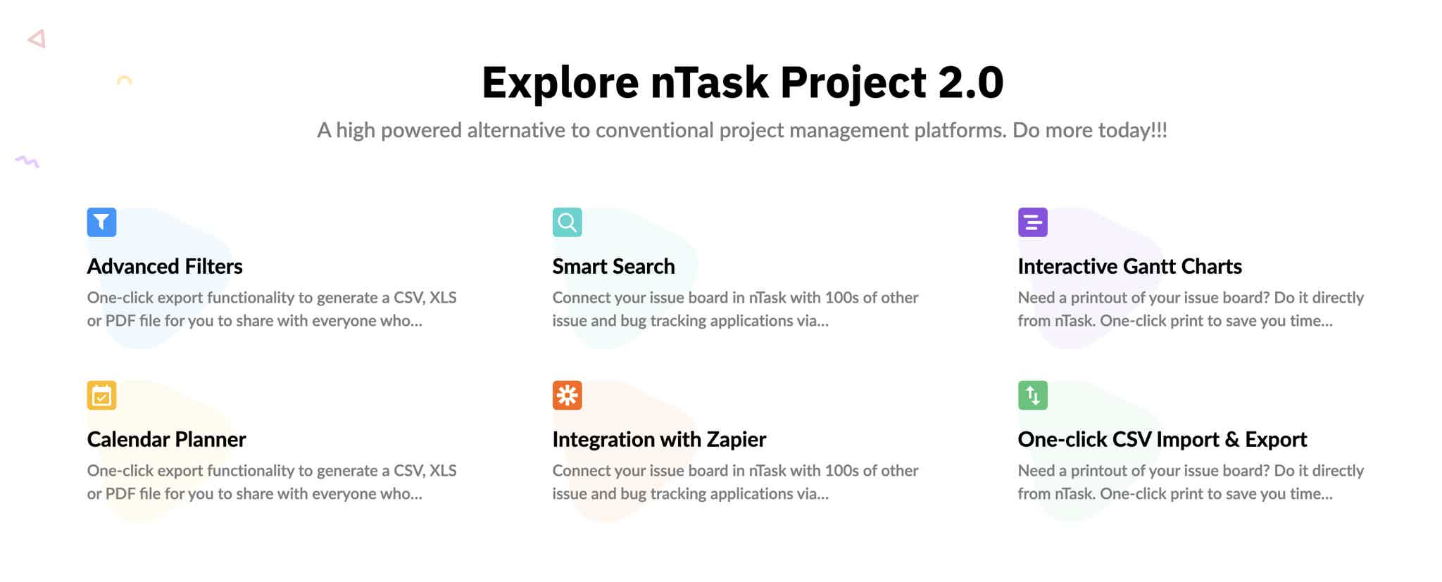 nTask Features