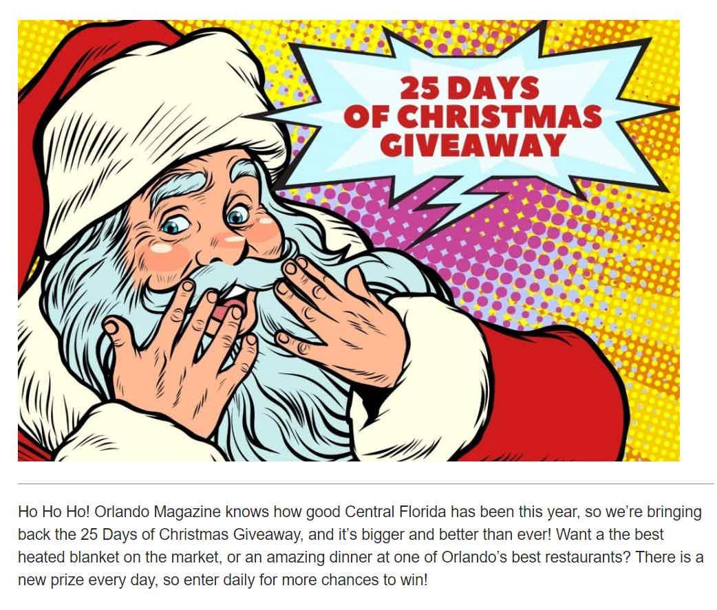 Orlando Magazine Christmas Giveaway