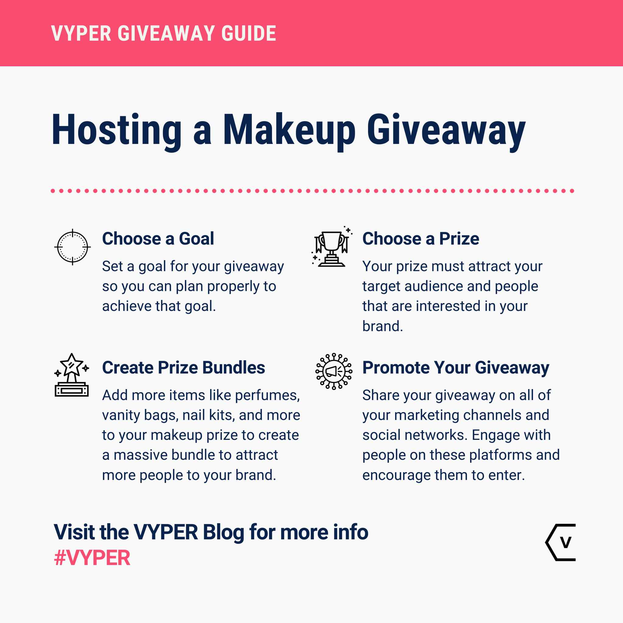 Hosting a Makeup Giveaway Infographic
