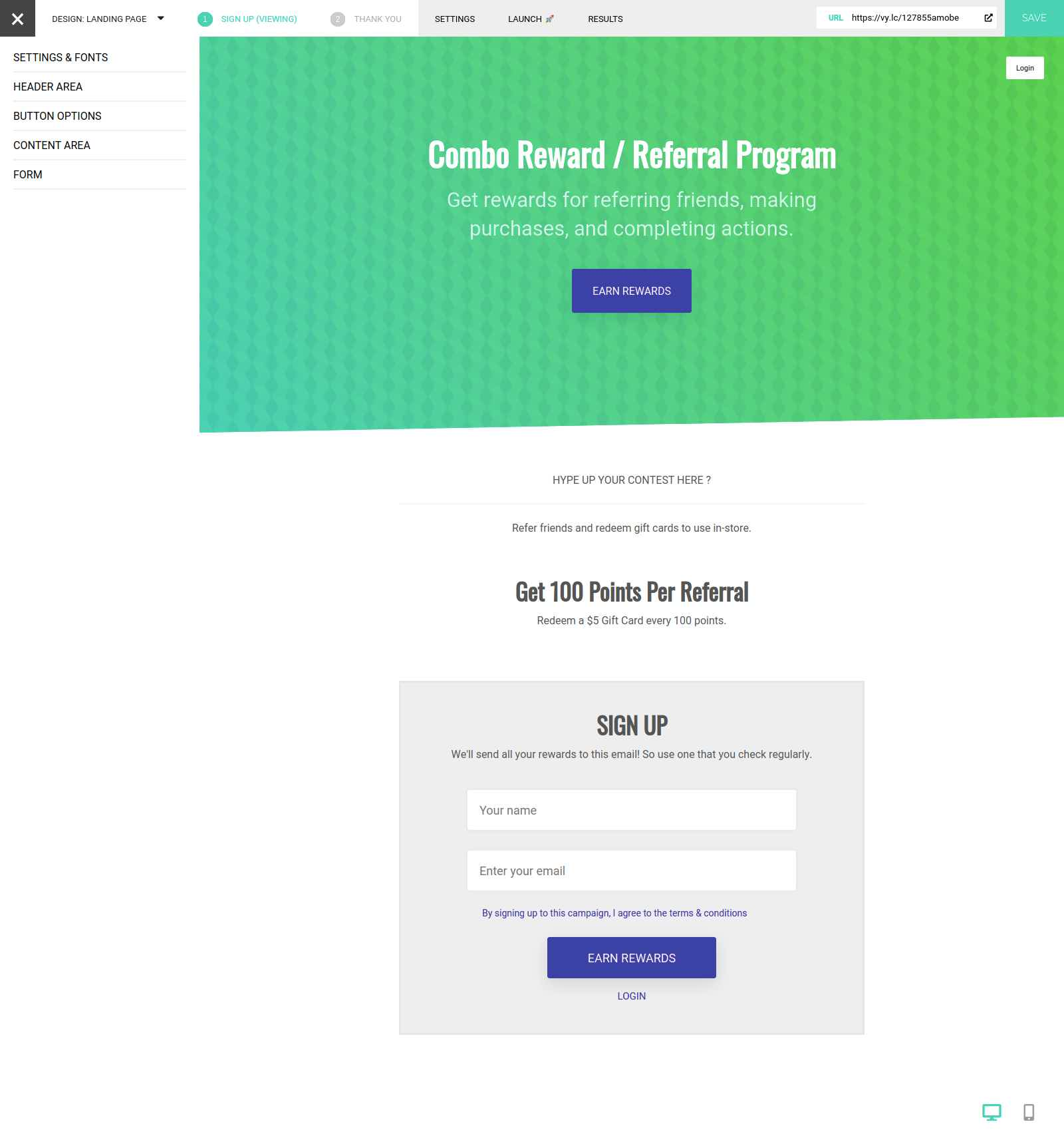 Vyper rewards program template