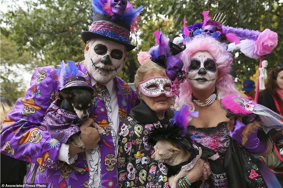 Day of the dead puppy costume