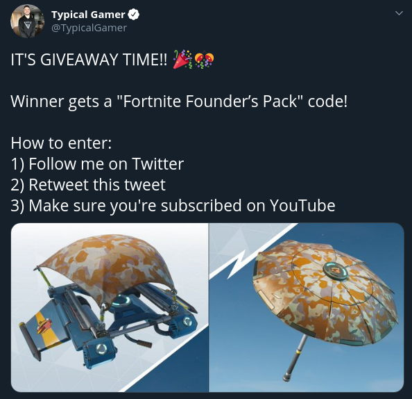 Typical Gamer Fortnite Giveaway