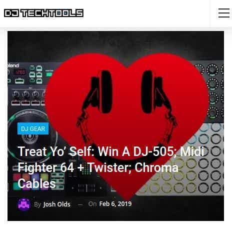 DJ Techtools blog giveaway