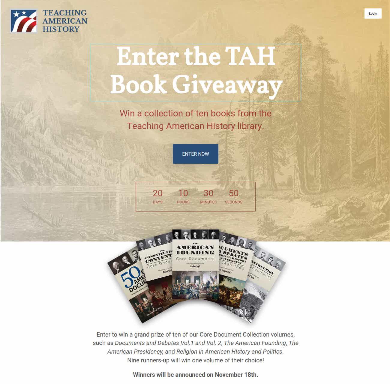 TAH Book Giveaway