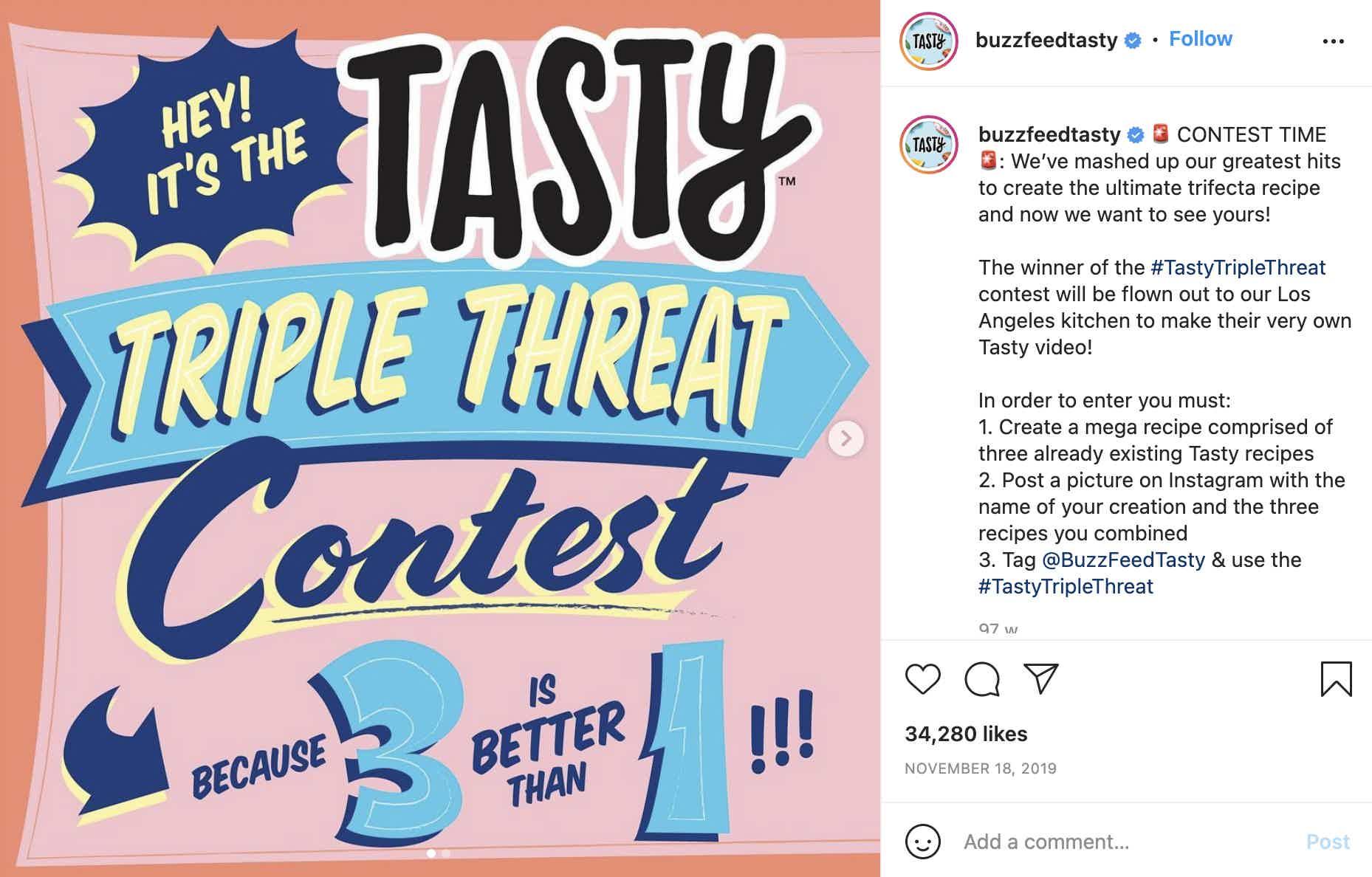 Bussfeed Tasty Contest