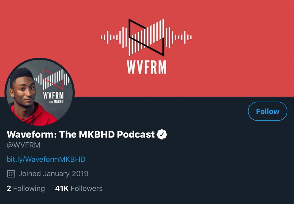 Waveform Podcast Twitter