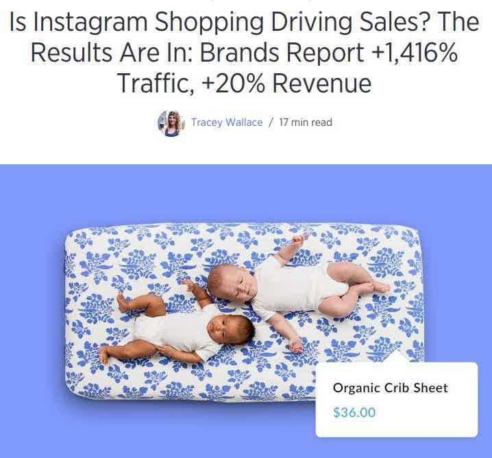 Instagram Shoppable sales case study