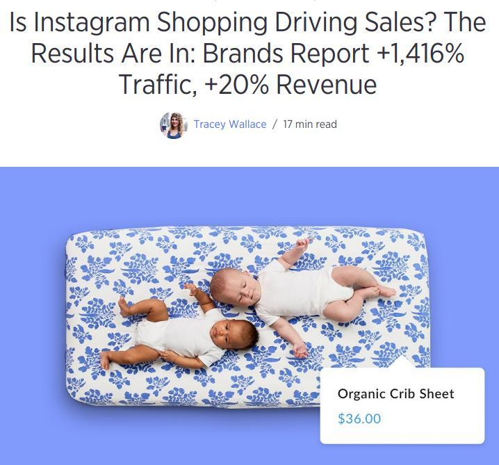 Instagram Shoppable sales case study