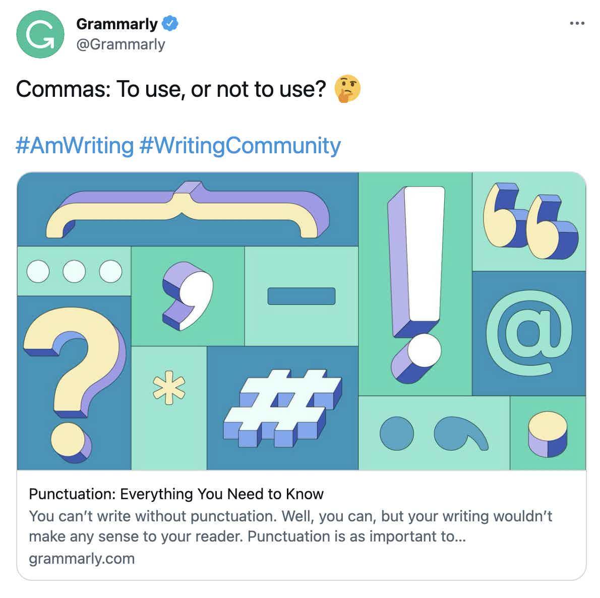 Grammarly Crosspost Twitter